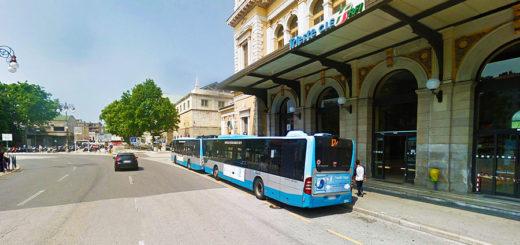 Trieste piazza Libertà Stazione Centrale