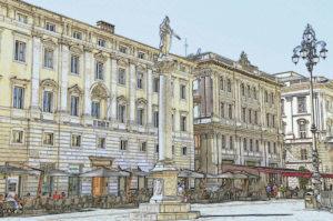 cartolina commemorativa Trieste