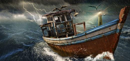 barca nella tempesta