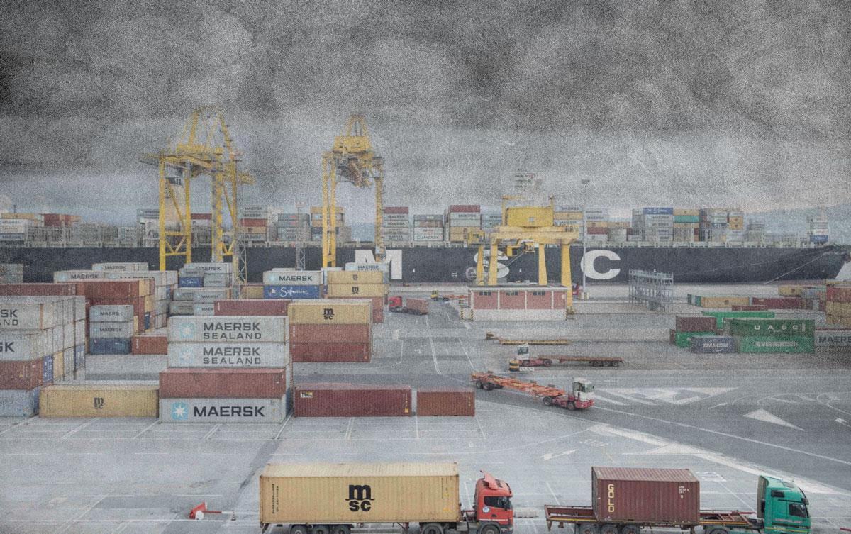 smog nel porto di Trieste