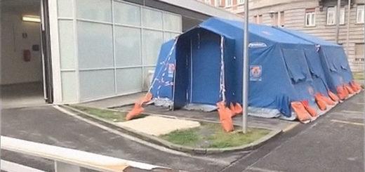 ospedale Maggiore di Trieste tenda covid-19