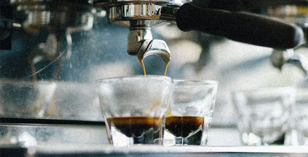 caffè machina espresso tazzine