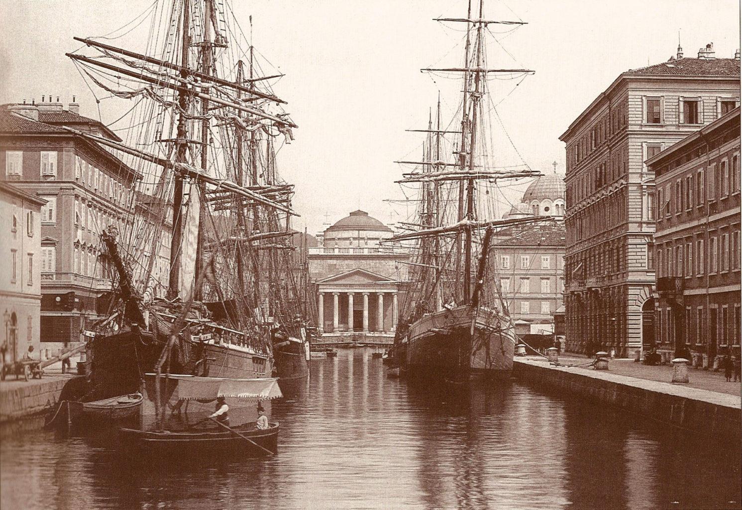 Canale Ponterosso nel 1900