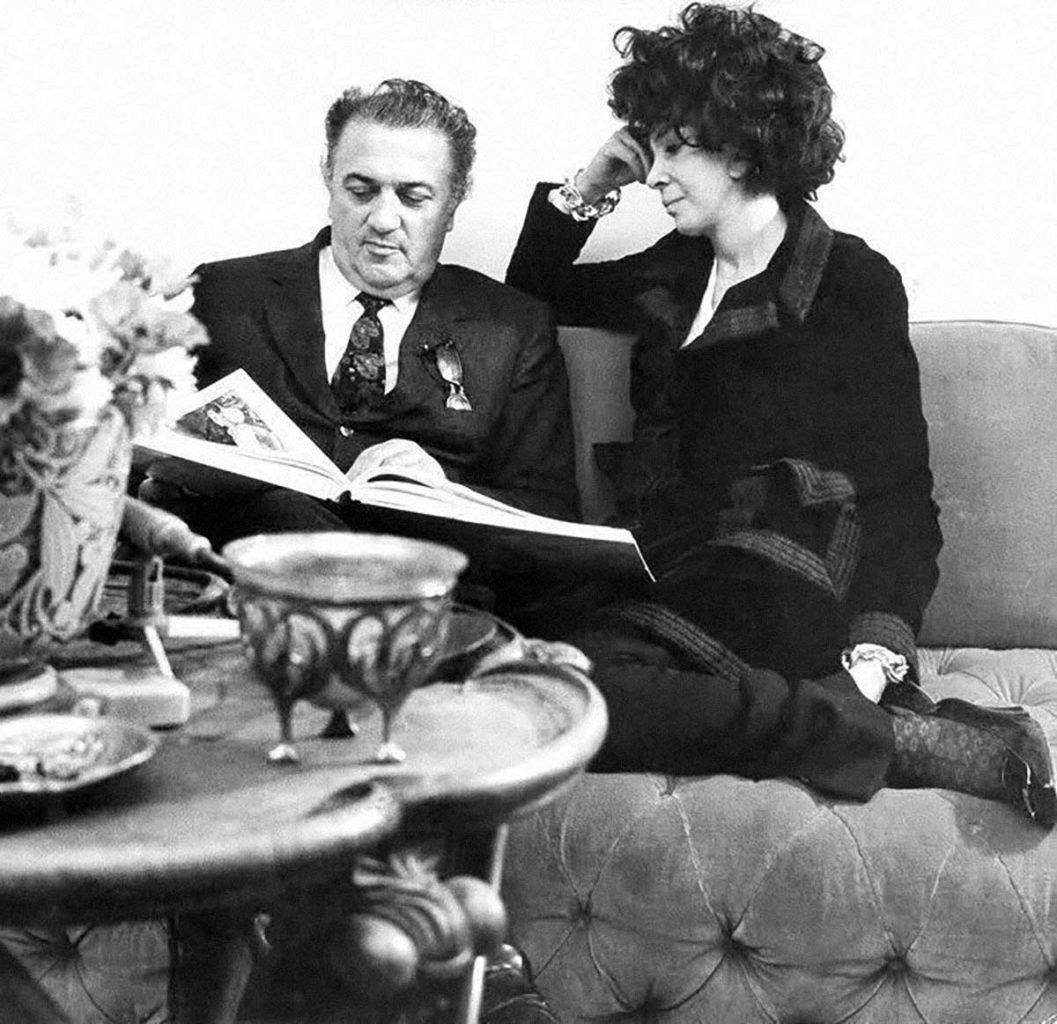 Federico Fellini e Leonor Fini - Parigi 1970