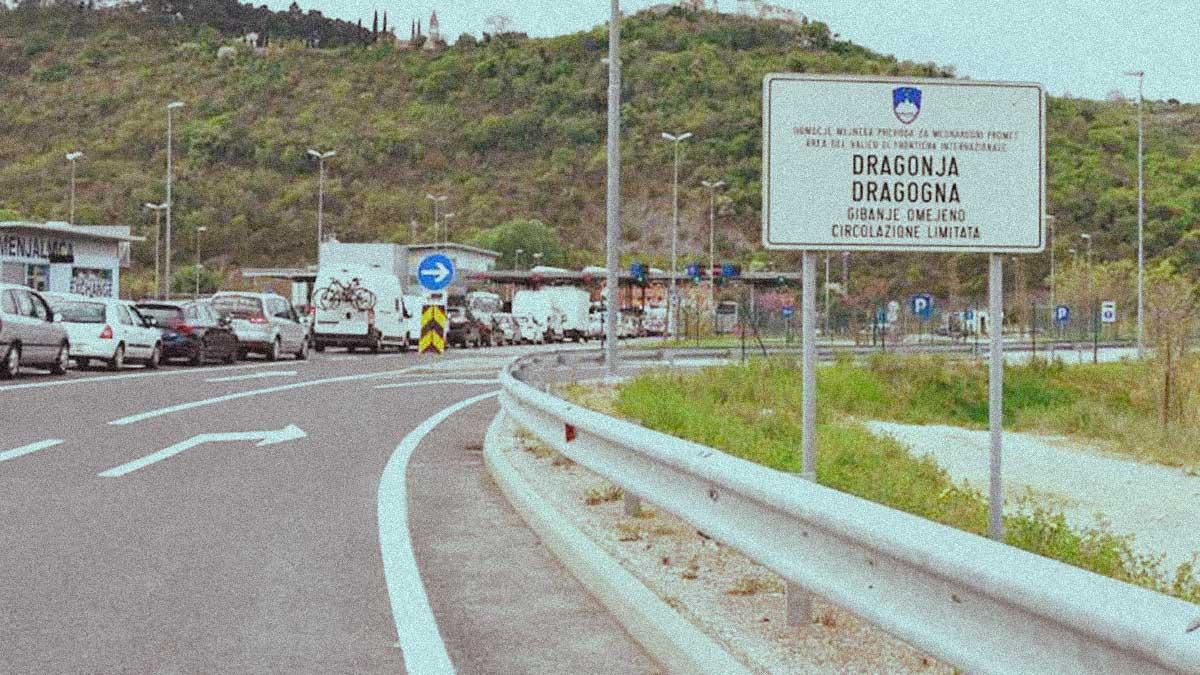 Dragonja confine Croazia Slovenia