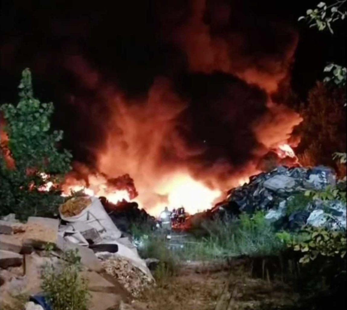 incendio a Lubiana Slovenia