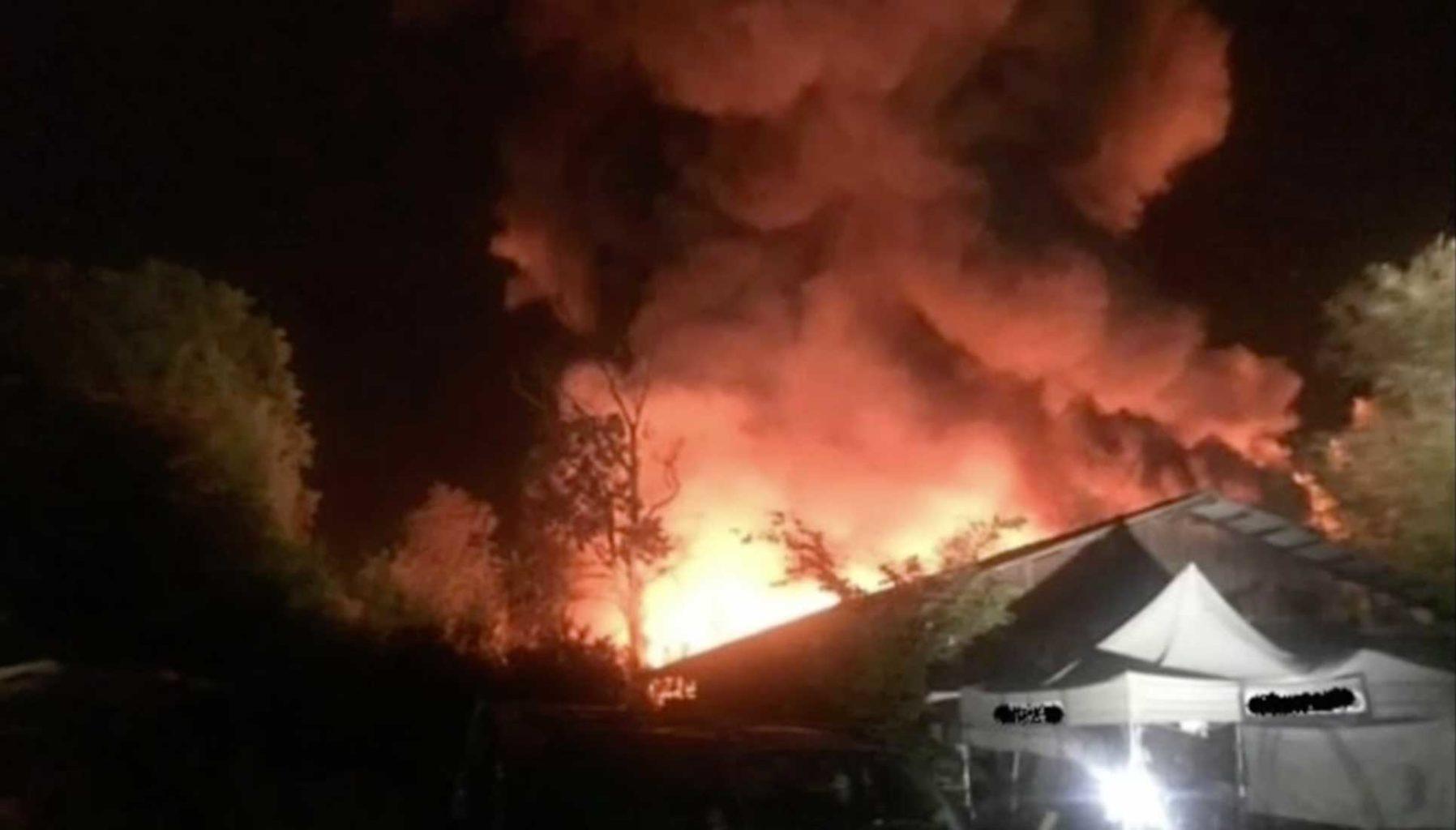 incendio devastante Lubiana