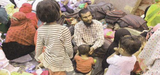 migranti con bambini e donne