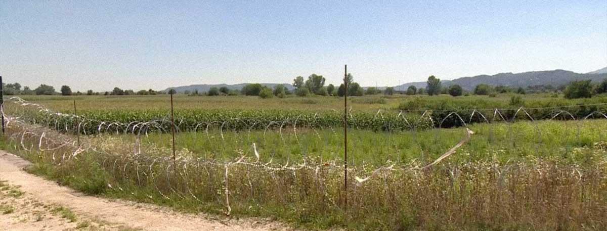 recinzione filo spinato confine slovenia croazia
