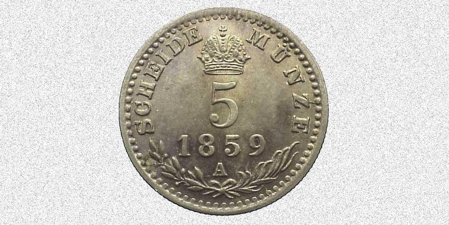Scheide Münze - schei
