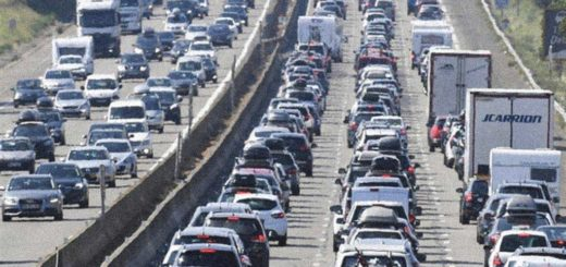 traffico intenso autostrada