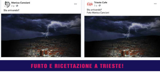 Monica Canciani furto foto e Trieste Cafe