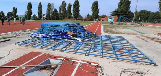 Campo Atletico di Cologna Draghicchio lavori in corso