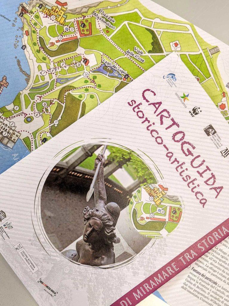 carto guida Parco di Miramare Trieste