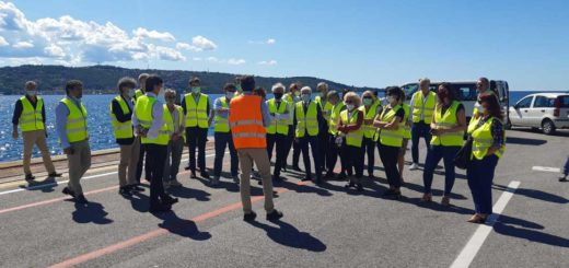 delegazione confindustria Brescia al Porto di Trieste