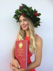 neo laureata Università di Trieste 2020