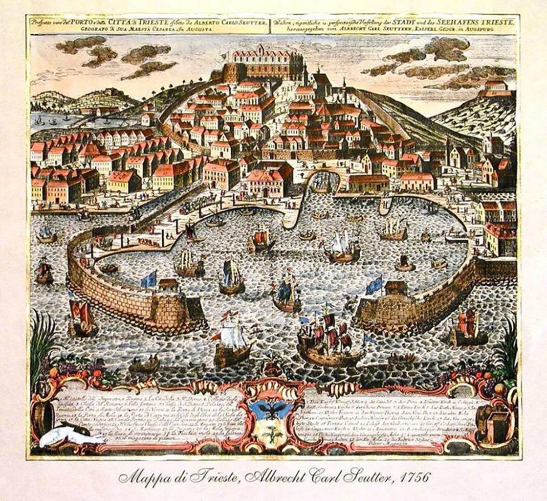 mappa Trieste 1756