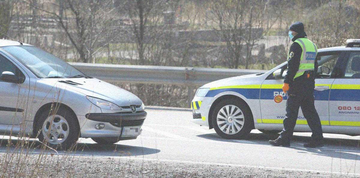 posto di blocco polizia slovena