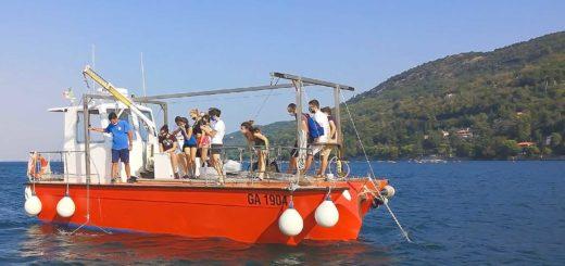 Scuola estiva Università di Trieste a bordo in mare
