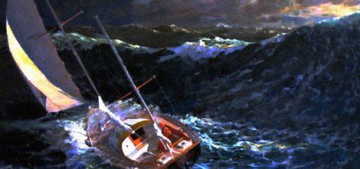 barca a vela nella tempesta
