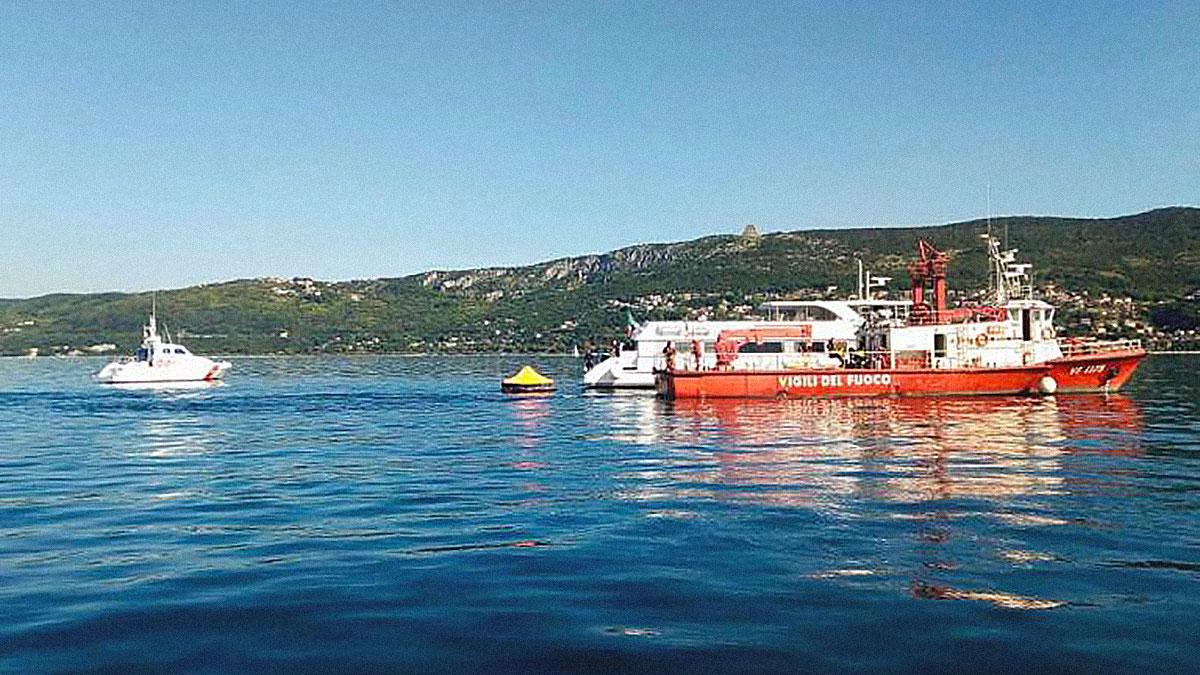 nave Delfino Verde Trieste esercitazioni incendio