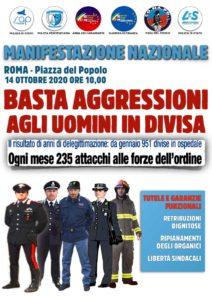 manifestazione Roma Sap 2020