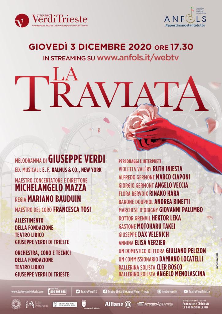 Teatro Verdi di Trieste - locandina de La traviata