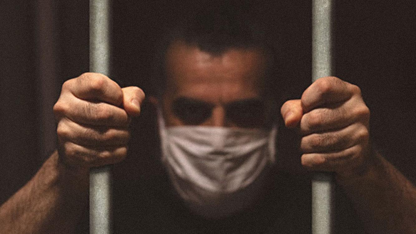 carcerato con mascherina