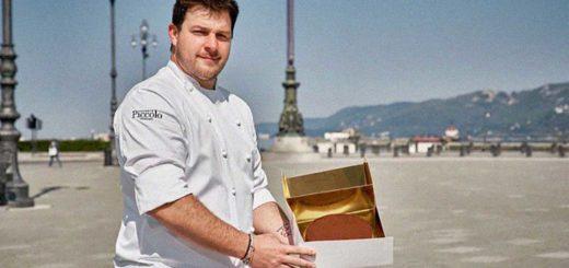 chef Matteo Metullio e torta Portualina