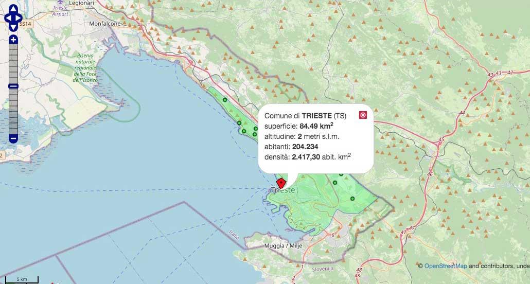 Cartina Dell Italia E I Suoi Confini.Quali Sono I Confini Del Nostro Comune Ecco La Mappa Interattiva Informatrieste