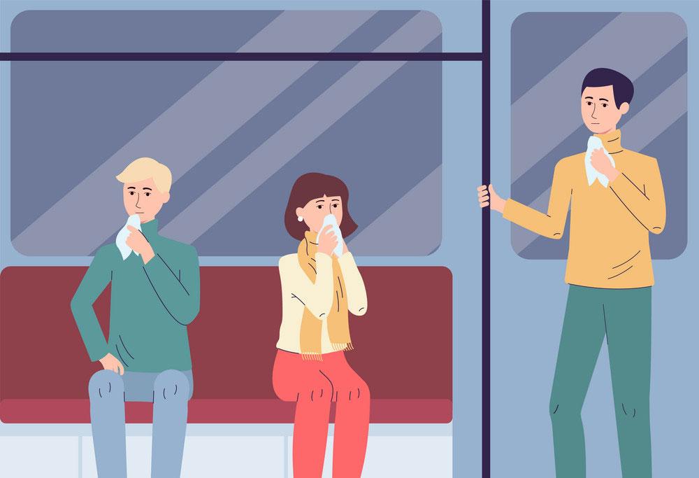 contagio virus in autobus