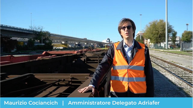 Maurizio Cociancich amministratore delegato di Adriafer presenta il servizio Easywagon