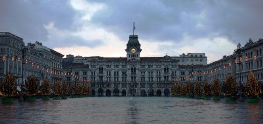 Trieste piazza grande unità lucette Natale