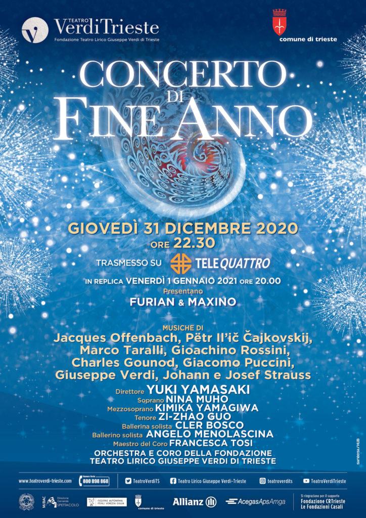 Teatro Verdi di Trieste concerto di fine anno 2020