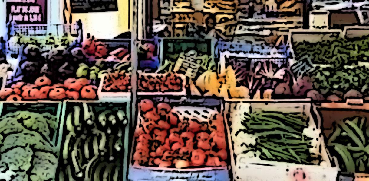 bancarella frutta e verdura