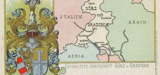 mappa Gorizia casa Asburgo