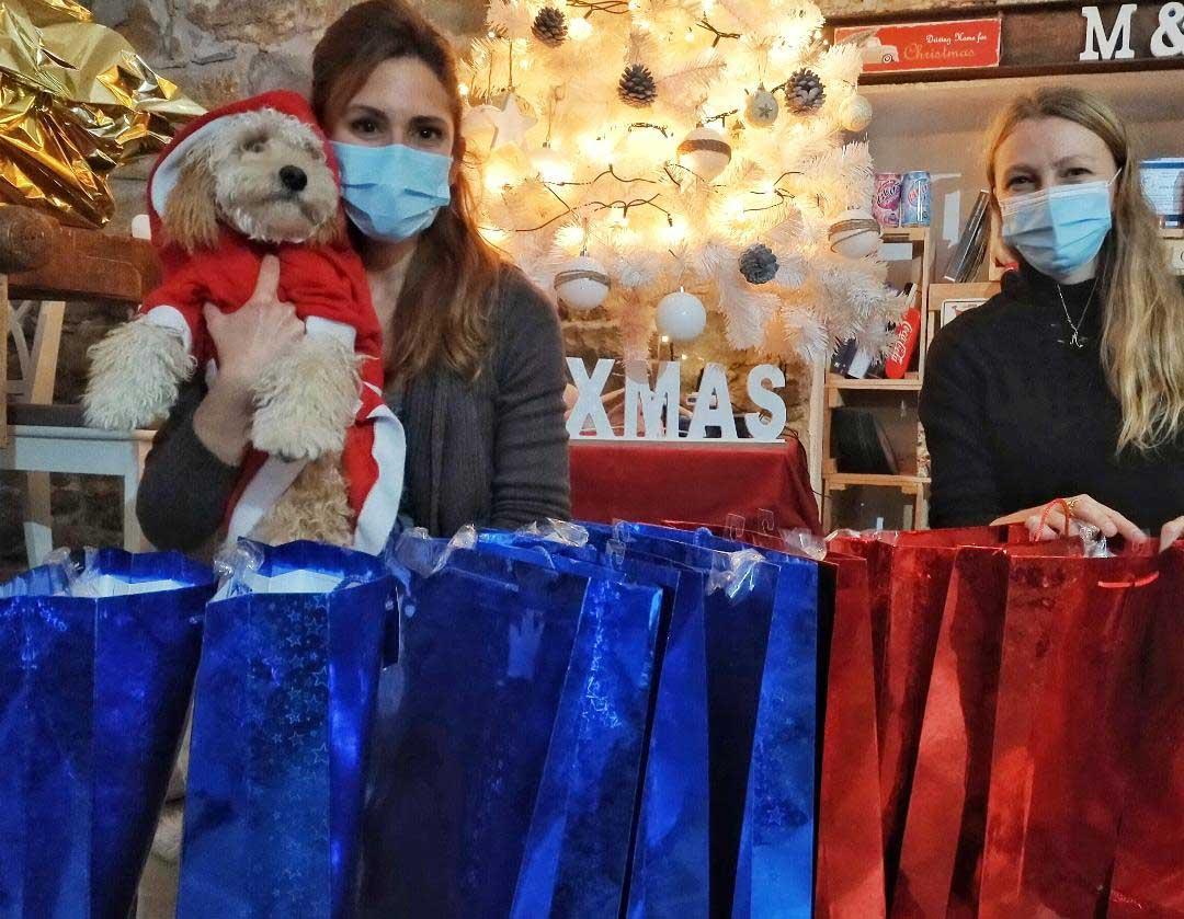 pacchi dono per i pazienti covid a Trieste