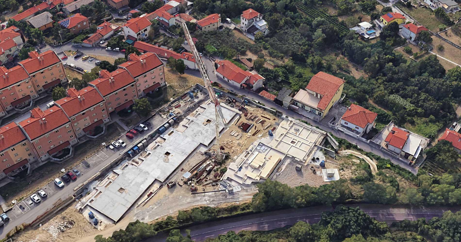 palazzine in costruzione via cesare dell'acqua trieste
