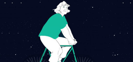 Margherita Hack in bicicletta tra le stelle