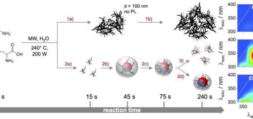 schema reazione nanodots nanoparticelle Università di Trieste