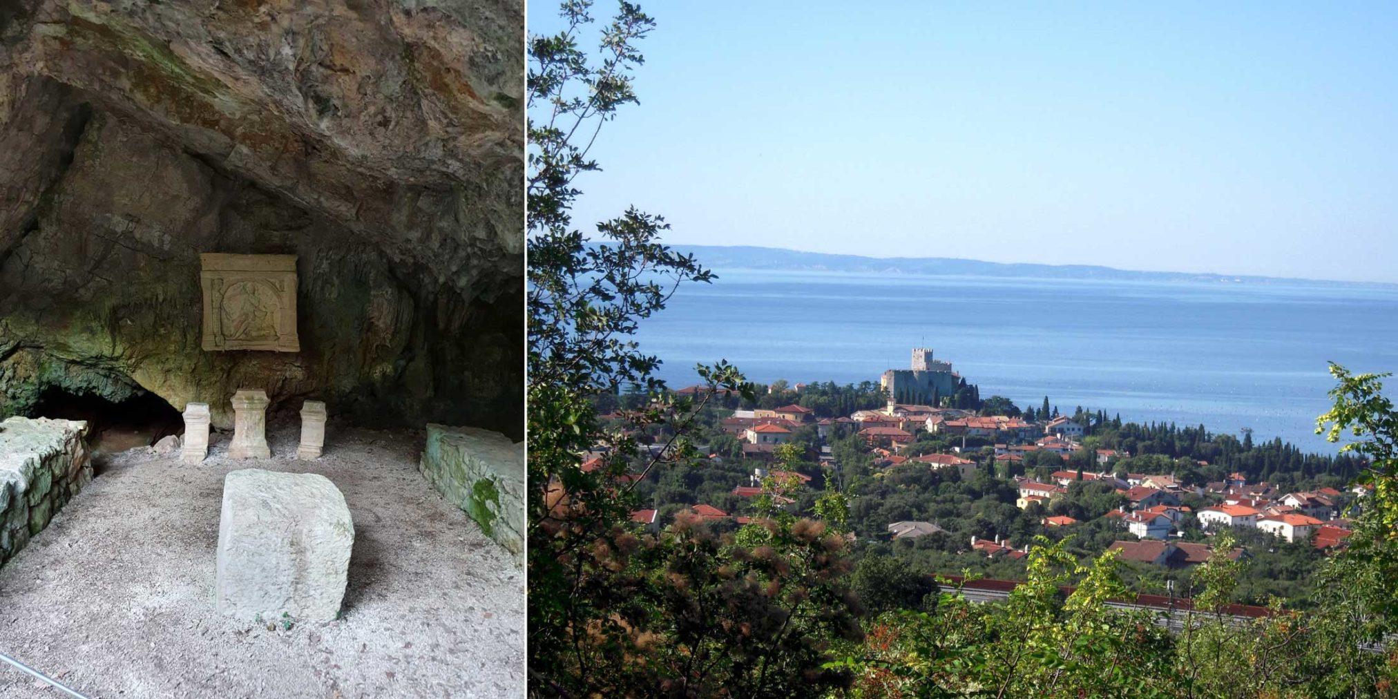 grotta del Mitreo monte Ermada Duino