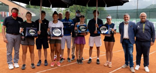 Premiazioni finali di doppio Tarvisio Tennis Cup 2021 - Foto Fabio Millo