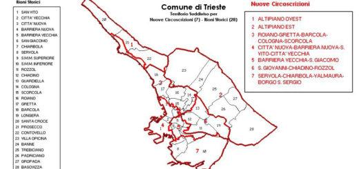 Comune di Trieste circoscrizioni rioni