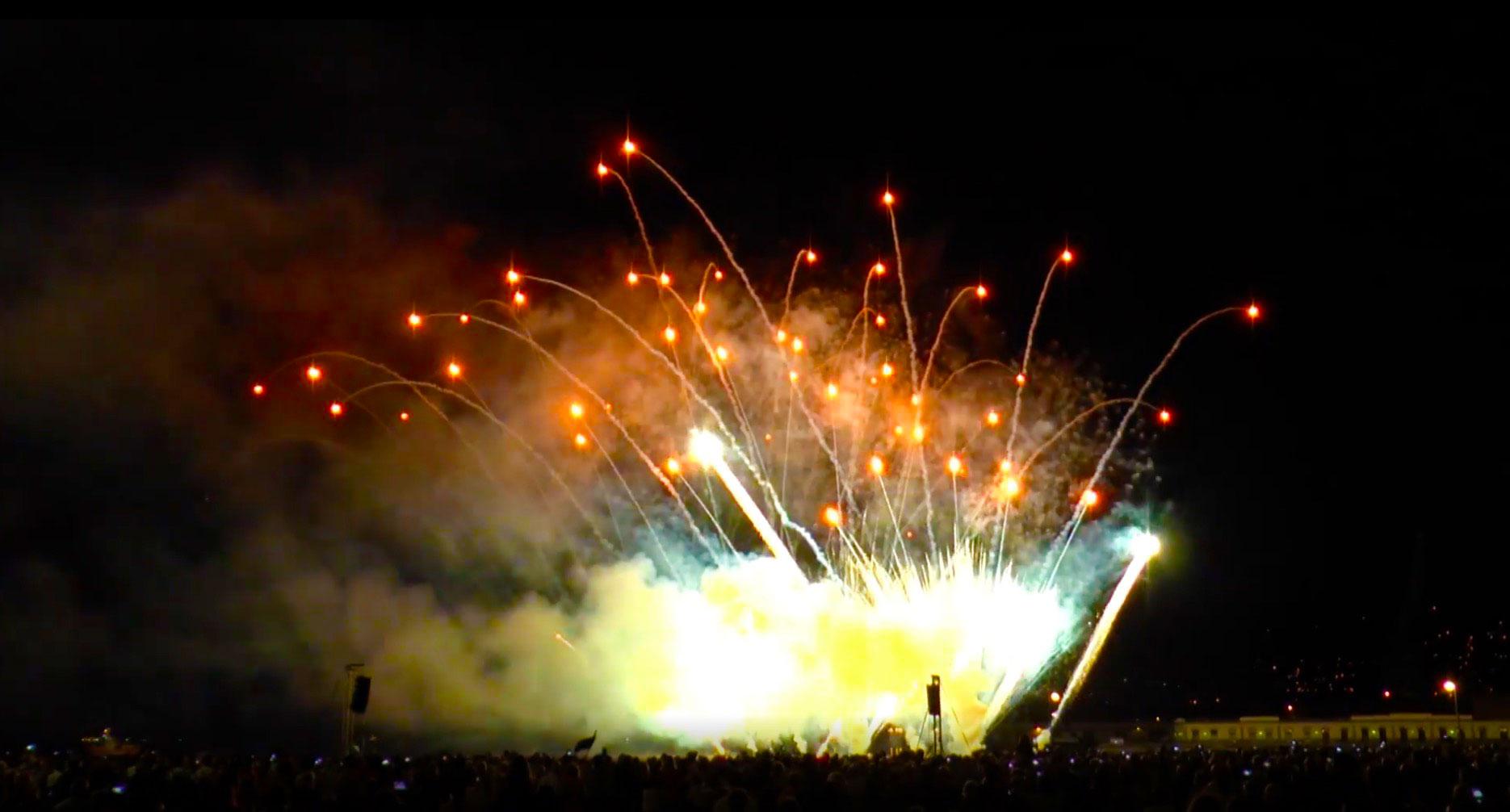 fuochi d'artificio pirotecnici Trieste Ferragosto