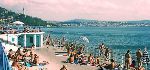 Trieste Barcola caldo bagnanti