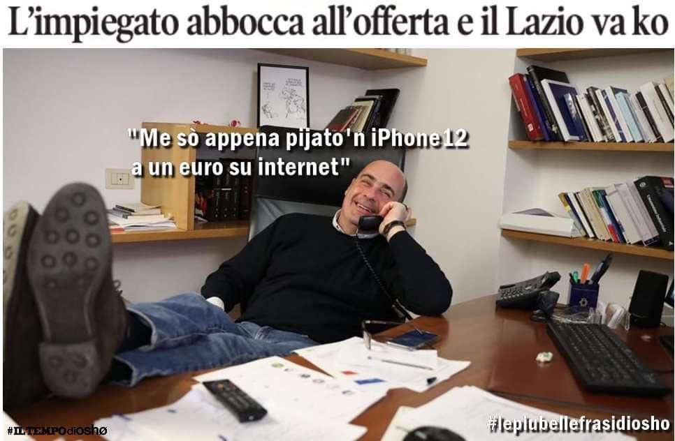 Zingaretti iPhone cyberattacchi Osho