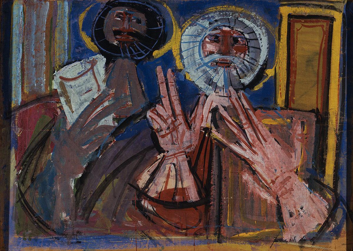 Spazzapan - Cosma e Damiano benedicenti 1951