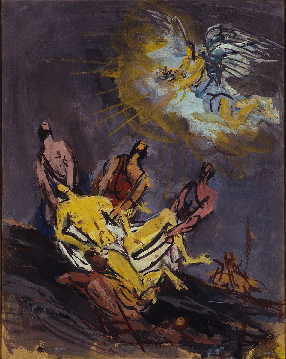 Spazzapan - Deposizione con angelo 1935