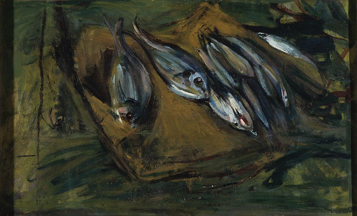 Spazzapan - Pesci sul tavolo 1932