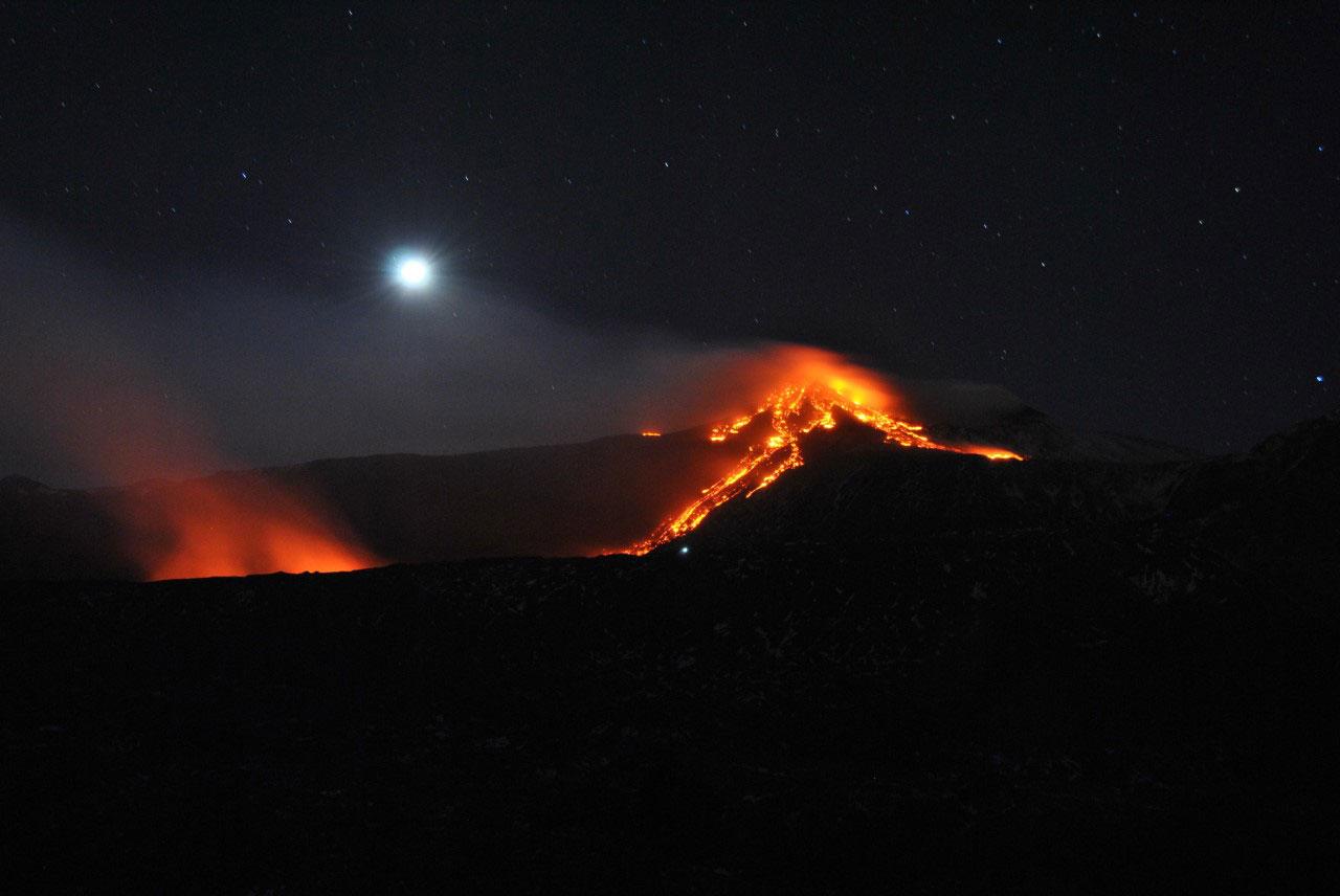 Etna vulcano eruzione erutta